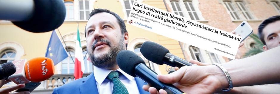 Caro Ferrara non sono d'accordo, sbagliato chiamare Salvini il Truce