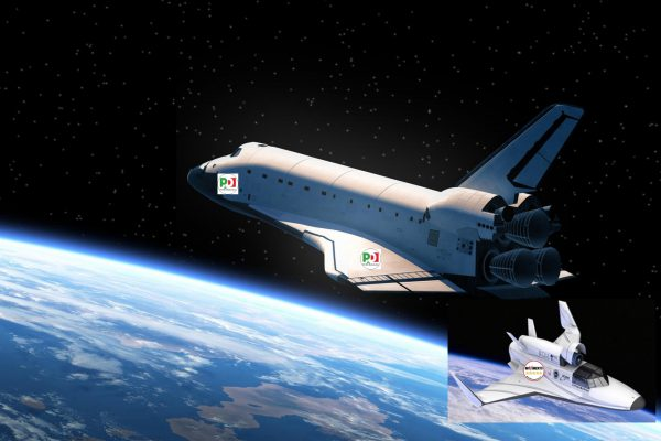 Loro sono nello spazio mentre l'Italia  affonda…